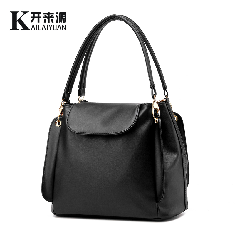 100% Genuine leather Women handbags 2017 New package female simple software package portable shoulder bag women Messenger(China (Mainland))