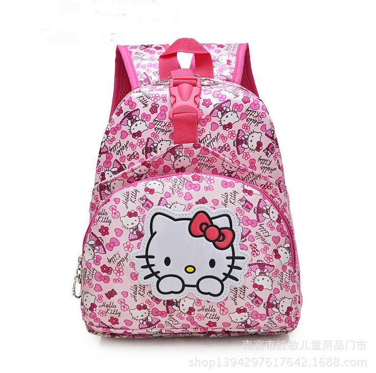 New school bag hello kitty backpack mochila infantil the classic children school bags cute girl backpacks endorsement &88241