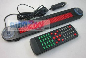 12V Car LED Programmable Message Sign Scrolling Display  Red  color