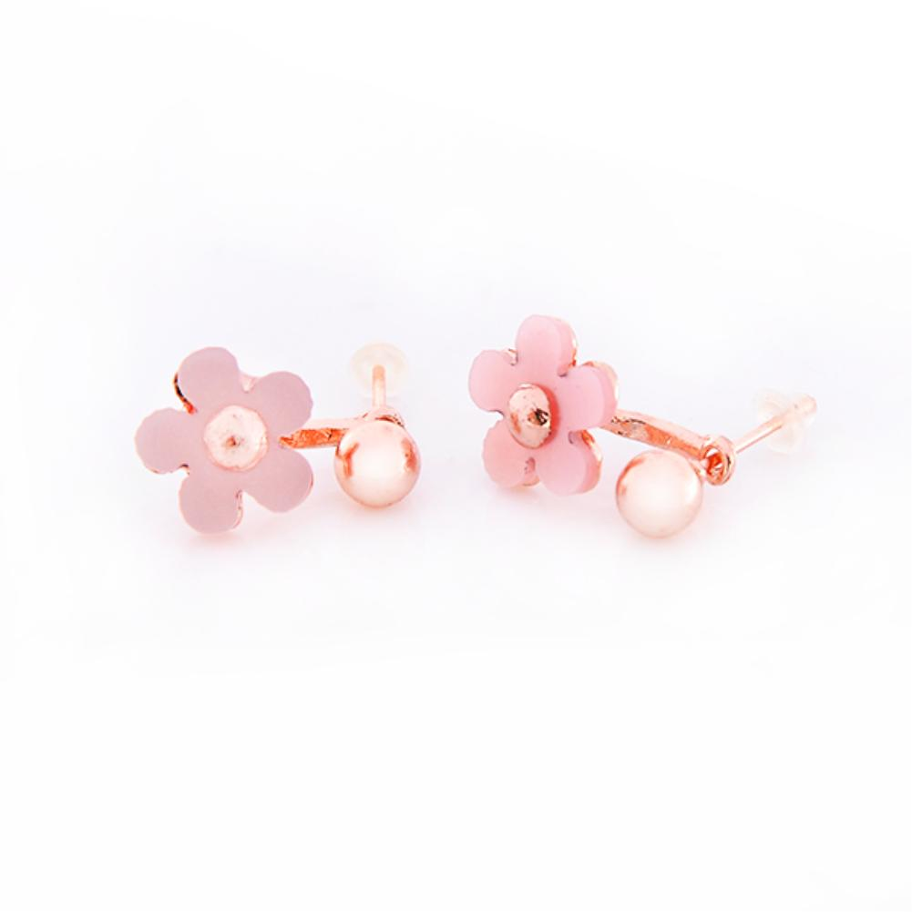 Summer Style Pink Delicacy Daisy Flower Back Phone Dual Purpose Earring Stud Earrings for women 1 Pair EQB588(China (Mainland))