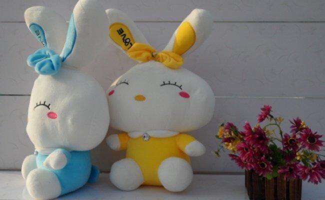 Freeshipping Christmas gift 60cm size rabbit plush toys Love rabbit soft toys 2color to choose(China (Mainland))