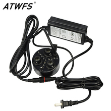ATWFS High Quality 3 Head Atomizer Ultrasonic Mist Maker Fogger with LED Lights Humidifier Atomizer(China (Mainland))