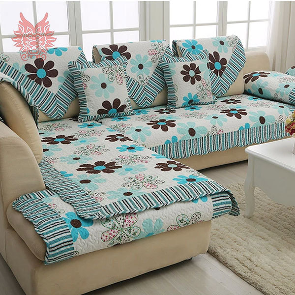 European style  floral print Sofa cover 100%cotton cloth quilting slipcovers winter canape for top fashion sofaSP1191