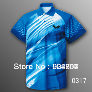 Wholesale! free shipping New 2012 Butterfly Men Table Tennis Polo Shirt 252