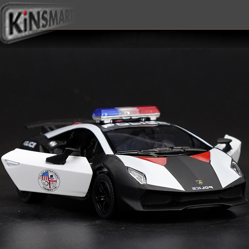 High Simulation Exquisite Diecasts Toy Vehicles KiNSMART Car Styling Sesto Elemento Police CCar 1:38 Alloy Diecast Model Toy Car(China (Mainland))