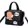 Lovely Small Bag Ladies Cute Cartoon Handbag Exquisite Embroidery Fashion Shoulder Bag Ladies Sweet Style Crossbody