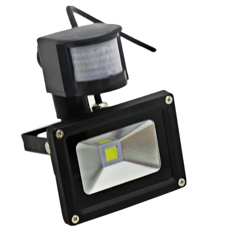 10w 20w 30w 50w pir motion sensor proyector focos led 220v for Focos led exterior 50w