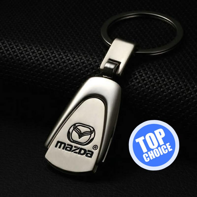 mazda keychain silver metalv water drop car logo keychain