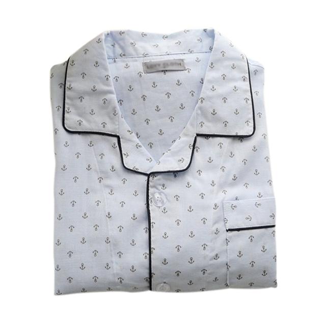 Новое поступление мужские пижамы комплект длинные рукава пижамы свободного покроя ...