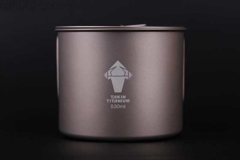 Takin Titanium Folding Cooking Water Kettle Pot Cup Bowl Mug Cookware With Lid For Picnic Outdoor Camping Hiking 530ml 88g(China (Mainland))