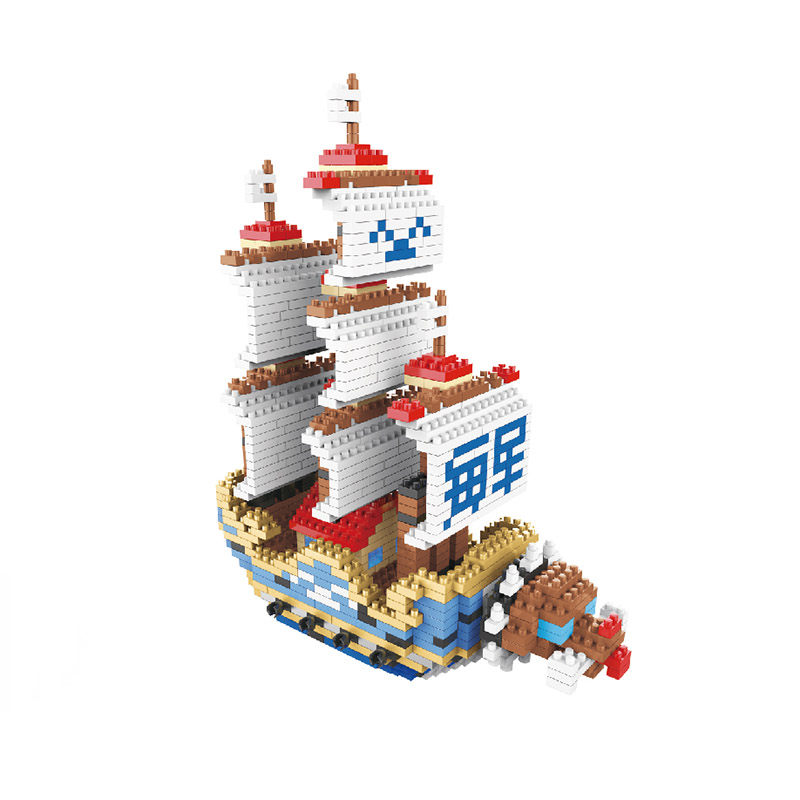 Marine Ship Action Figures One Piece Toys Garp Battleship Red Force Model Cartoon Minifigures DIY Blocks Gifts Collection(China (Mainland))