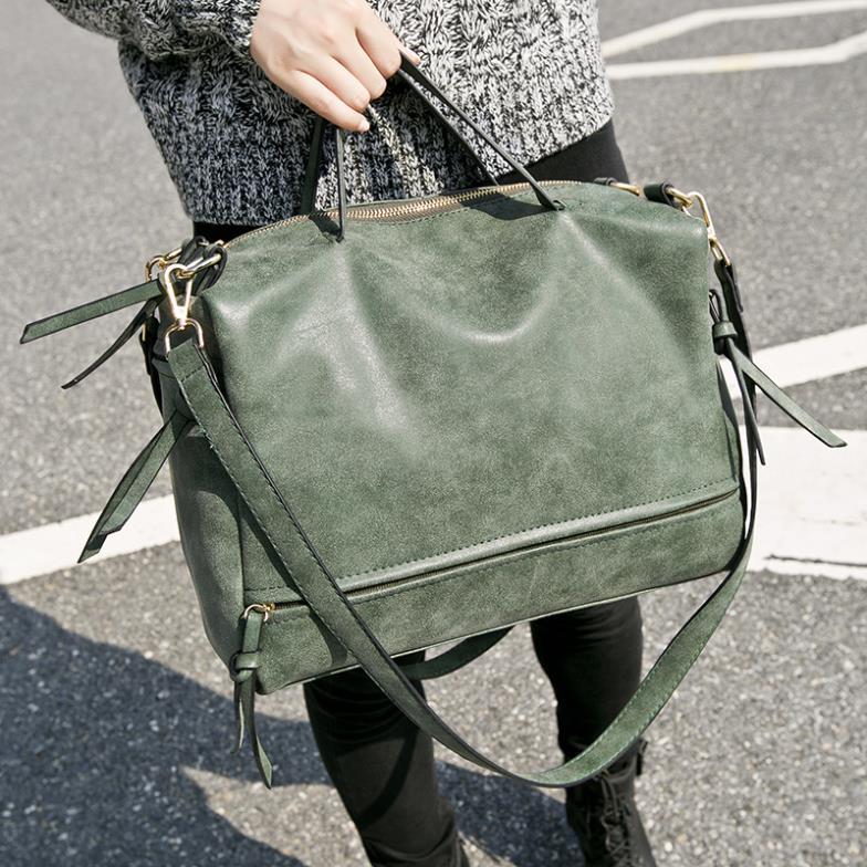 Women Leather Handbags Women Shoulder Bag Nubuck Matte Leather Vintage Messenger Bag Motorcycle Crossbody Bags Female Bag XB160<br><br>Aliexpress