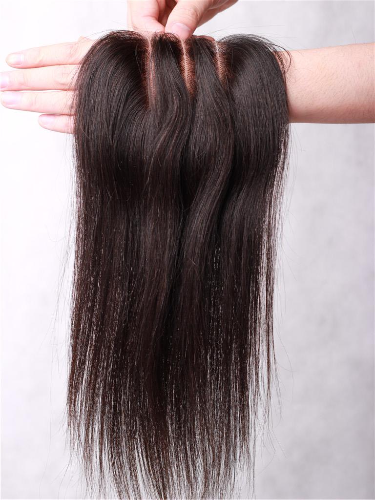 Free Part Closure Bleached Knots Hair Top Pieces Hair