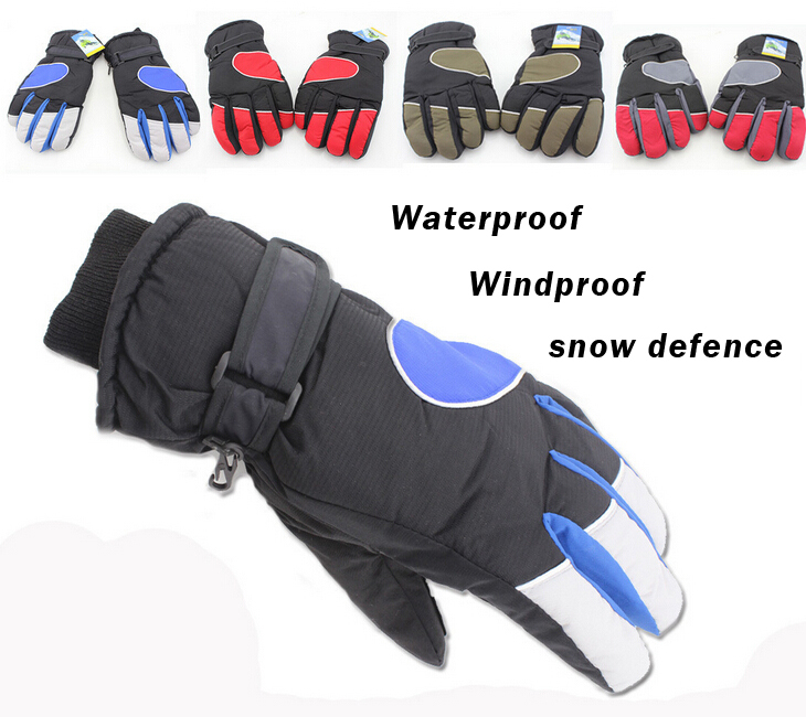 2014 Latest High Quality Men Skiing Gloves Winter Outdoor Riding Snowboarding Ski Gloves Windproof Waterproof Warm(China (Mainland))