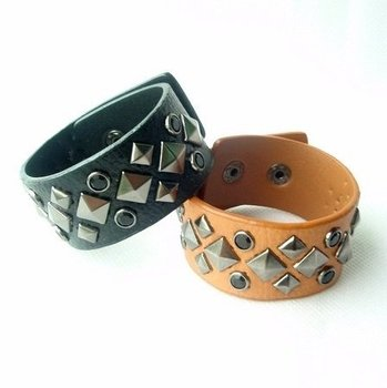 Min order $15 Best selling Fashion very cool 3 colours Punk style multilayer cheap leather bracelet jewelry
