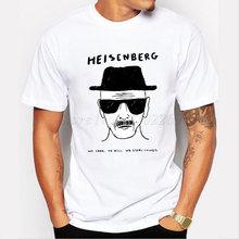 2018 Мужская модная футболка Heisenberg с 3D принтом, рубашка с принтом Уолт, белая футболка с короткими рукавами, хипстер, хит продаж, топы(China)
