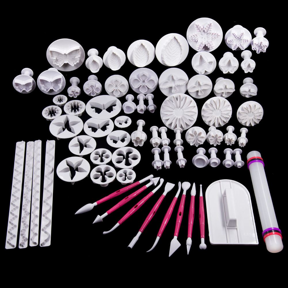 70 pcs cake cutter tools sets,fondant cupcake decorating tools sets,cake cutter & rolling pin dessert tools,free shipping(China (Mainland))