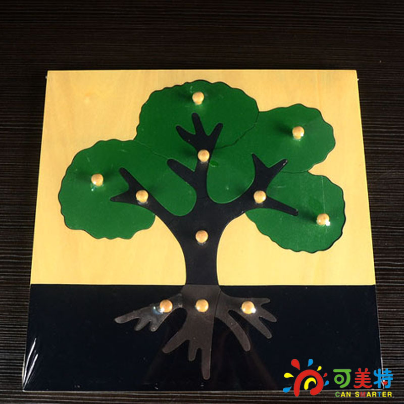 Montessori Education Tree Puzzle Beech Wood Science toys Early educational toys Can Smarter Free Shipping(China (Mainland))