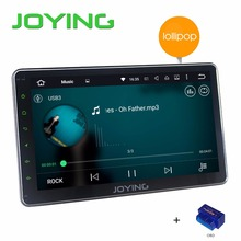 "Joying 10.1"" Universal Car Stereo GPS Navigation System 1024*600 Android 5.1.1 Lollipop Quad Core Double 2 Din Head Unit+OBD(China (Mainland))"