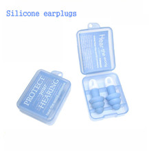 2015 Hot Sell Silica Gel  earplugs Noise soundproof earplugs / sleeping earplugs / earbuds essential travel trip Free Shipping