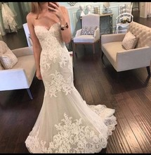 Buy ZGS496 Bridal Bride Dresses vestidos de noiva 2017 New Sexy Lace Mermaid Wedding Dresses Sweetheart Sequin Tulle for $255.29 in AliExpress store