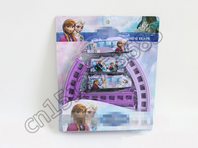 Anna & Elsa Series Electric Car Educational Toy Mini Train for Child Gift Build Kid family fun(China (Mainland))