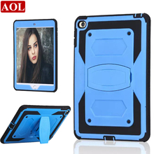 Hybrid Kickstand Case Cover for Apple iPad mini4 7.9 inch TPU + PC Shockproof for iPad mini 4 Assemble Cover with Stand(China (Mainland))