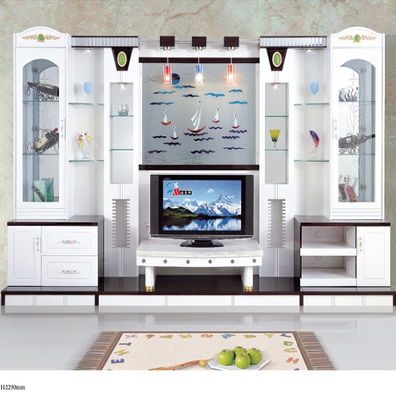 Modern Brief Fashion White Paint Living Room Furniture Wine Glass Cabinet Office Combination