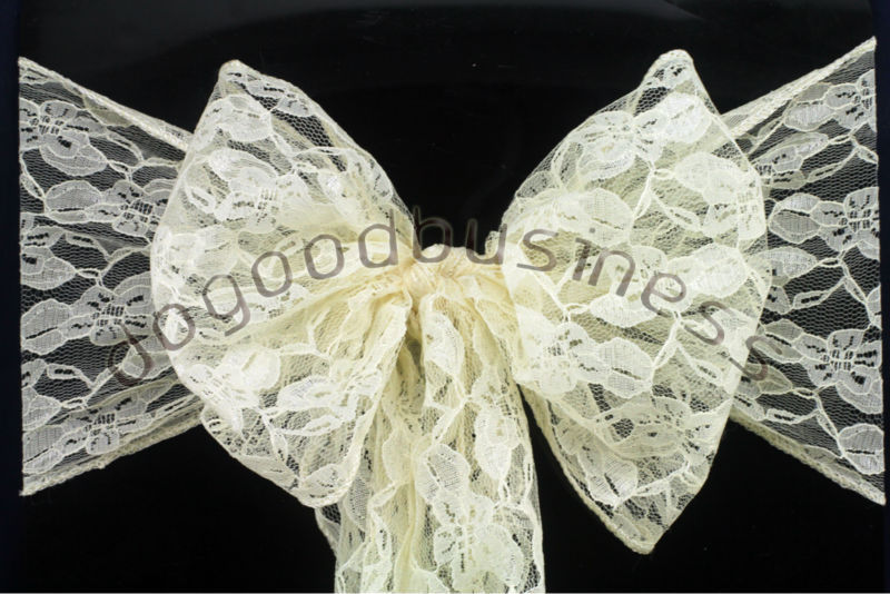 ivory lace chair sashes 1