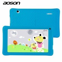 Best Gifts for Child 7 inch Kids Tablet PC AOSON M751S-BS Allwinner 512MB/8GB 1024*600 Bluetooth Dual Cameras With Silicone Case(China (Mainland))