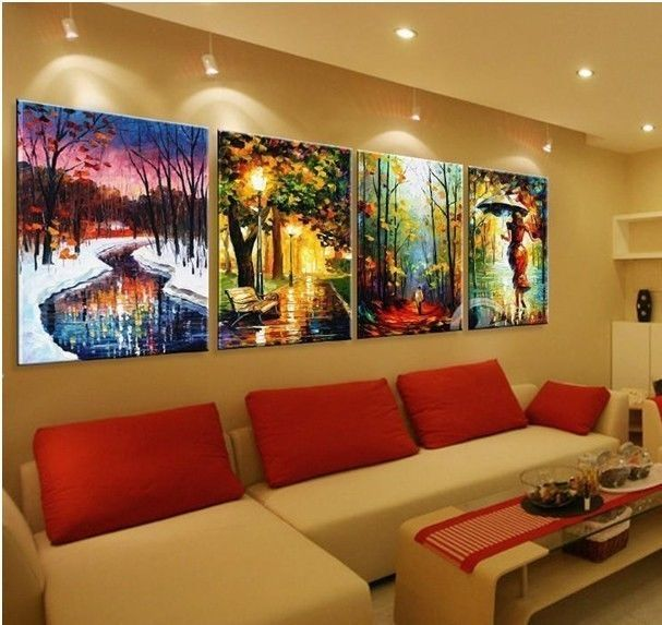 store product  P Large Canvas Painting Contemporary Wall Art Decor No Frame