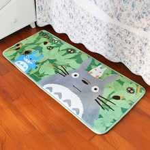 2016 Totoro Mat Super Soft Coral Fleece Cartoon rugs and carpets for home living room Anti-slip Kitchen carpet Bathroom Carpet(China (Mainland))