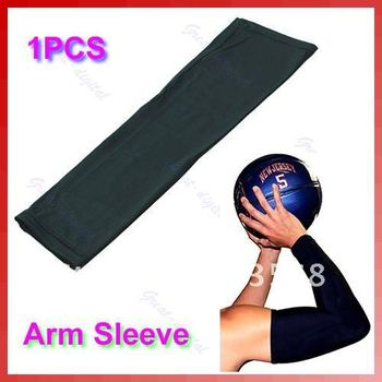 D19+Arm Sleeve Cover UV Stretch Shooting Warmer Basketball Volleyball Bike Sports