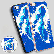 Buy megaman Phone Ring Holder Soft TPU Silicon Case Cover iPhone 4 4S 5C 5 SE 5S 6 6S 7 Plus for $2.99 in AliExpress store