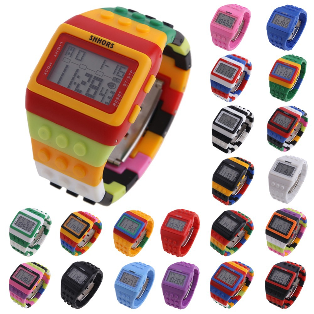 Гаджет  LS4G Free Shipping Retro Chic Unisex Digital Constructor Multi Function Digital  Watch Colourful Spor None Ювелирные изделия и часы