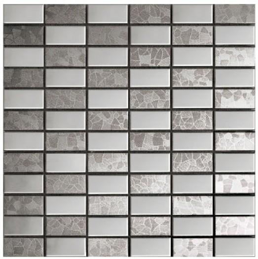 Azulejos Baño Mosaico:metal mosaico de acero inoxidable de la cocina azulejo baño azulejos