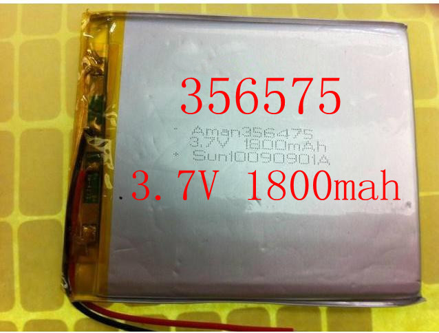 Size 356575 3.7V 1800mah Lithium polymer Battery with Protection Board For MP4 PSP GPS Tablet PCs PDA Free Shipping<br><br>Aliexpress