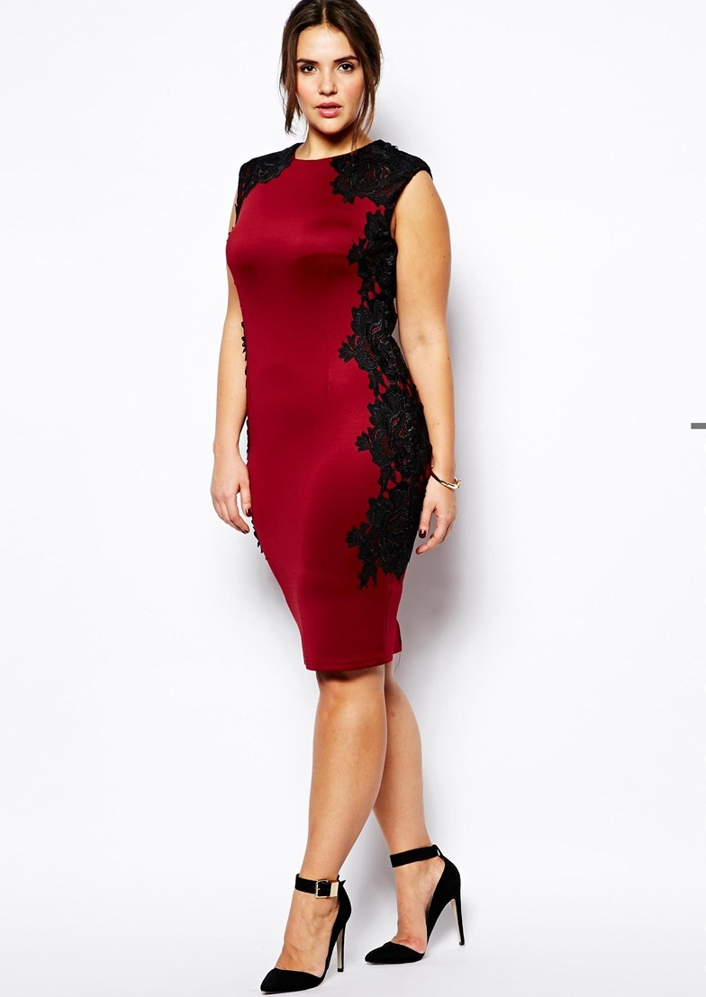 : Buy Fashion design sexy red lace dress women plus size party dress ...
