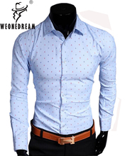 2016 Men Shirt Slim Fit Famous Brand Long Sleeve Casual Shirts Male Dress Shirts Chemise Homme M-XXXL(China (Mainland))