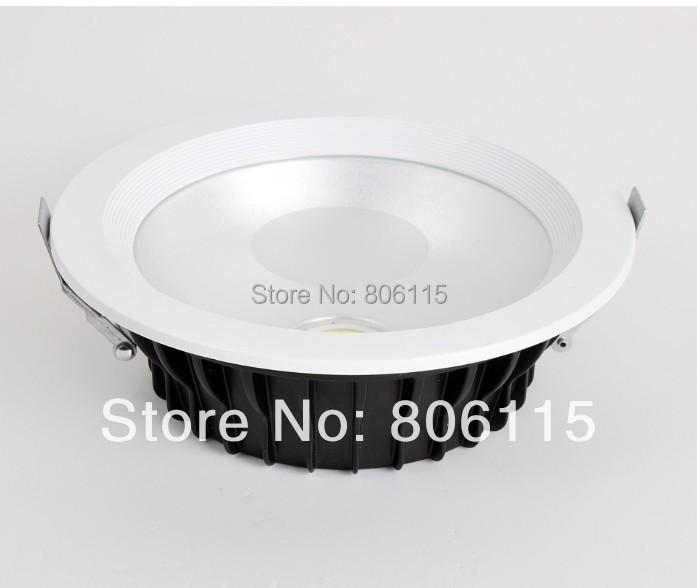 Free shipping 10W/20W/25W/30W/40W LED downlights Dimmable COB LED Down light led recessed down light(China (Mainland))