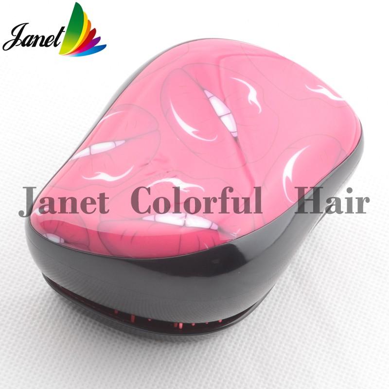 Новый цвет мода Detangle расчески волос гребень розовый цвет прямая поставка Detangling щетка для волос бесплатная доставка прекрасный