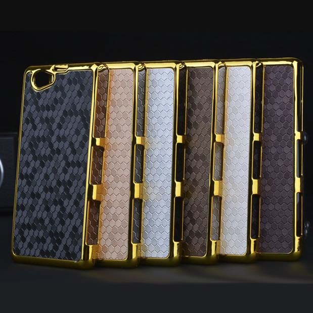 6 Colors Luxury Gold Chrome Diamond Design Hard Case Cover Sony Xperia Z1 mini Compact D5503 Free Shiping - Mike digital accessories store