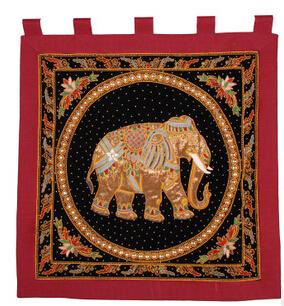 Юго-восточной азии стиль украшения дома гобелен спальня в прихожей красный черная рука слоны гобелены