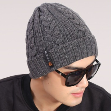 Korean hot men's new classic winter warm wool knit hat outdoor recreation fashion head cap sleeve beanies,winter man's caps - Sky Trade Co., Ltd. store