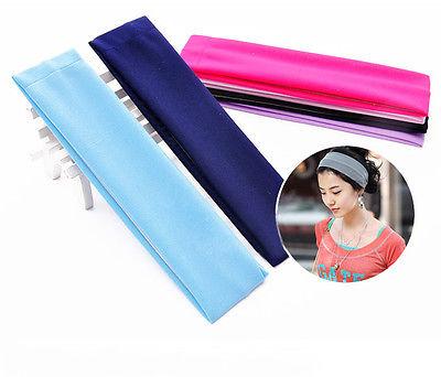 Women Sports Gym Stretchy Headwear Stretch Cotton Hairband For Yoga Running(China (Mainland))