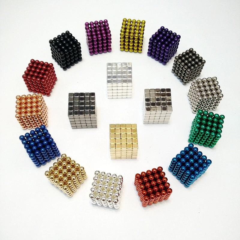 5mm 125pcs Metaballs Magnetic Balls Magnet Neo Cube Magic Toys New Year Gift Christmas Gift Magico Cubo Metal Box+Bag+Card(China (Mainland))