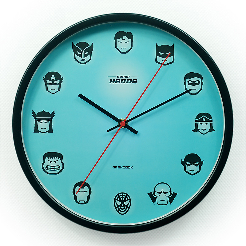Original Super Hero Style Metal Antique Wall Clock Modern
