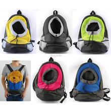 Pet Dog Cat Front Carrier Mesh Portable Outdoor Travel Backpack Head out Carrier Bag Rose Green Blue Grey(China (Mainland))