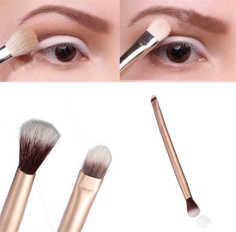 Makeup Eye Powder Foundation Eyeshadow Blending Double Ended Brush Pen 1Pcs 0521