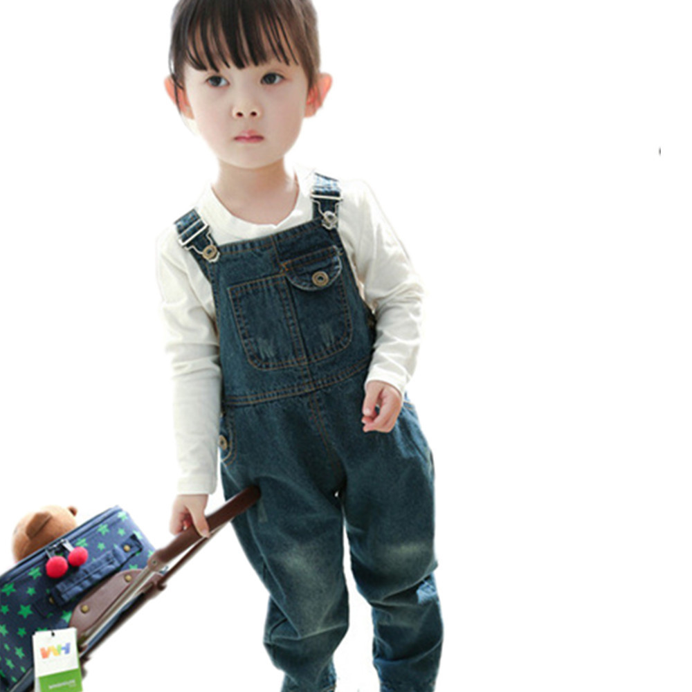2015 New Brand Denim Overalls for Girls u0026 Boys Childrenu0026#39;s Jeans Jumpsuits Boys Dungarees Quality ...